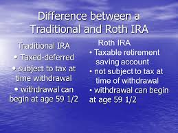 Difference Between A Traditional And Roth Ira Traditional