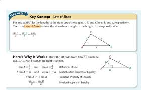 Properties Of Equality Properties Law Of Sines Chart
