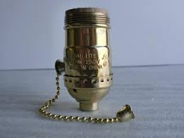 pull chain light socket pull chain socket w thread brass pull chain lamp socket repair