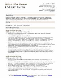 Sample Resume For Medical Office Manager Medical Office Manager Resume Samples Qwikresume