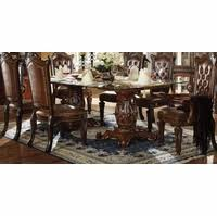 glass top double pedestal dining table. vendome formal 96\ glass top double pedestal dining table