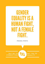 Gender Equality Quotes Adorable Orange Speech Bubble Gender Equality Quote Poster Templates By Canva