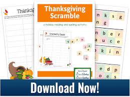 Thanksgiving Scramble A Fun Make A Word Activity Free Pdf