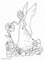 Flowers stained glass color by number. Fairy Coloring Pages Free Printable Princess Pictures 76