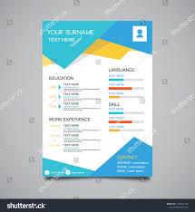Vector Minimalist Curriculum Vitae Resume Template Stock Vector