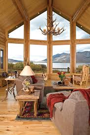 Log Cabin Living Room Concept Cool Design Inspiration