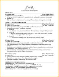34 Sample Resume For Undergraduate Students Resume Examples For