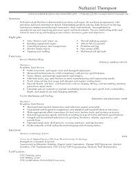 Sample Machinist Resumes Machinist Resume Examples Programmer Suitable Samples Objective