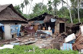 There is a large spread in yearly magnitude 5+ earthquakes. Earthquakes
