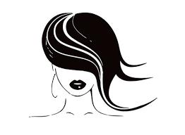 custom 17 x21 hair wall decals girl model hairdressing beauty salon wall
