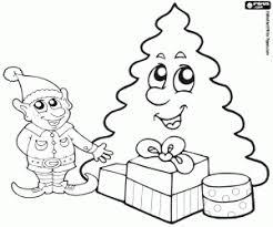 Kleurplaten Kerstman Rendieren En Elfen Kleurplaat