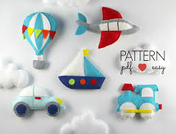 hot air balloon felt sewing pattern garland toy previous