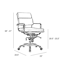 office chair drawing. Wonderful Chair Century Black Padded Modern Classic Aluminum Office Chair Set Of 2 Throughout Drawing