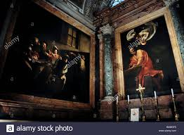 caravaggio paintings in the contarelli chapel rome italy san luigi dei francesi