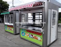 Mobile Kitchen Equipment Kitchen Equipment Shanghai Ice Cream Push Carts 3 Wheel Food Truck