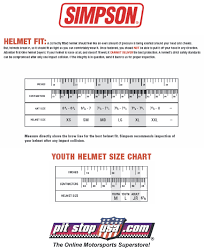 39 Memorable Simpson Helmet Sizing Chart