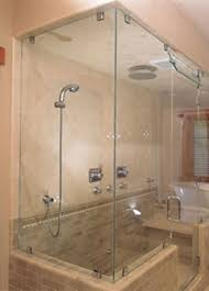 commercial clear glass bath enclosure