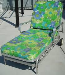 vintage aluminum patio chaise lounge