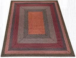 rc 43 burdy blue gray rectangle braided rug 8x10