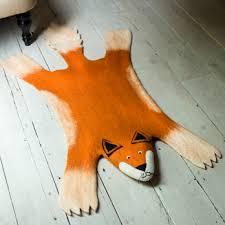 rug animal fox childrens wool