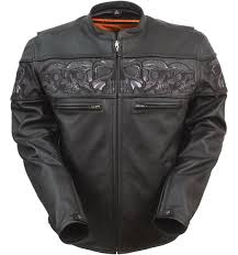 reflective skulls leather jacket