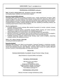 Executive Administrative Assistant Resume Acepeople Co