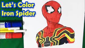 #coloring #coloringpage #coloringpages #coloringbook #coloringvideos. Iron Spider Spider Man Homecoming Coloring Pages Sailany Coloring Kids Youtube