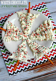 These White Chocolate Christmas Trees are a fun recipe you could serve at a  holiday party