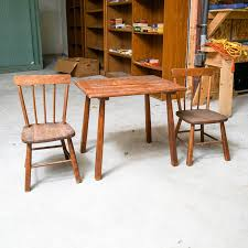 Windsor Style Child's Table and Chairs by Paris Manufacturing ...