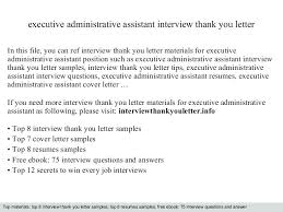 Interview Questions For Executive Assistants Executive Administrative Assistant Best Solutions Of Thank
