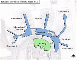 Kslc Approach Charts Salt Lake City Slc Airport Terminal Map