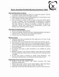 Sample Resume Certified Nursing Assistant Resume for Certified Nurse assistant Luxury Sample Nursing assistant 40