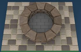 diagram of a stone fire pit kit installed on top of a paver patio