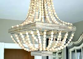 white beaded chandelier washed wood wooded beads simple pottery barn dalila crystal simpl pottery barn beaded chandelier francesca frosted pendant