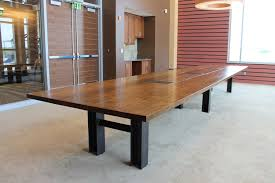 reclaimed oak custom conference table
