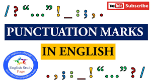 Punctuation Marks In English Youtube