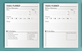 travel planner template 10 useful itineraries templates wedding traveling events