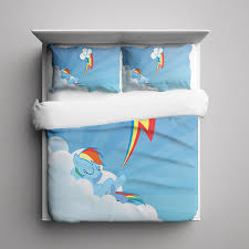 my little pony rainbow dash 3 pieces bedding set full size