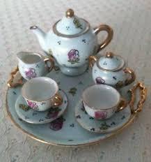 Tea Set Display Stand For Sale Miniature Tea Set EBay 59