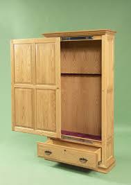Amish Cabinet Doors Amish Handcrafted Gun Cabinet With Sliding Door