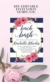 Bachelorette Party Invitation Template Download