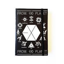 Exo Notebook Design K Pop Exo From Exo Planet Notebook Exo Kpop Notebook