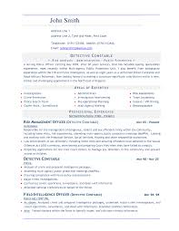Extraordinary Police Chief Resume Examples For Police Dog Handler