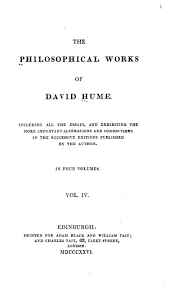 the philosophical works of david hume vol the inquiries  philosophical works of david hume 0221 04 tp