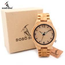 online buy whole unique watches for men from unique bobo bird d27 bamboo wooden watch for men unique lug design top brand luxury quartz wood