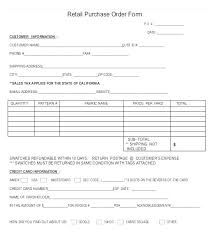 Template Purchase Order Acknowledgement Format Retail Form