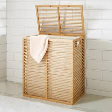 Zen Divided Bamboo Hamper ...