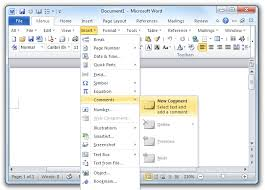 where is the insert comment in microsoft word 2007 2010 2016 and 2016