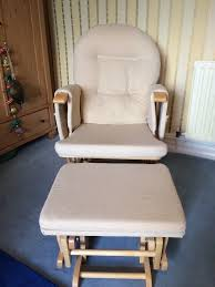 hauck reclining glider nursing chair and footstool