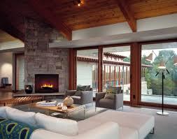 Warm Living Room Living Room Warm Living Room With Stone Fireplace Also Polka